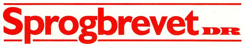 Sprogbrevet DR logo