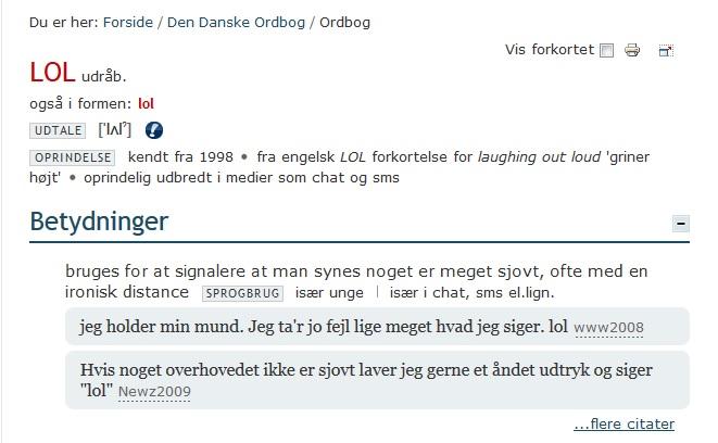 Den Danske Ordbog er opdateret med nye ord