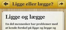 """Huskesedlerne """"Sproghjælp"""" på sproget.dk og app"""
