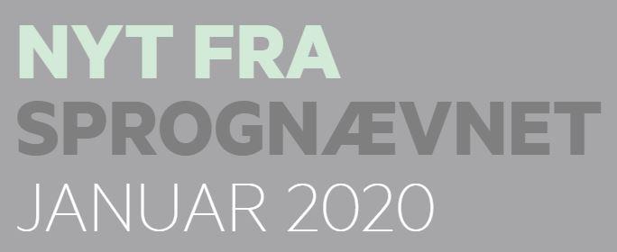 Nyt fra Sprognævnet 2020/1
