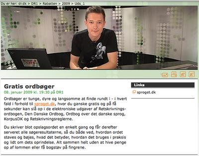 Sproget.dk i Rabatten på DR1
