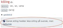 Falske venner i Svensk-Dansk Ordbog
